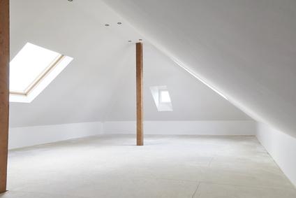 Dachwohnung im Rohbau